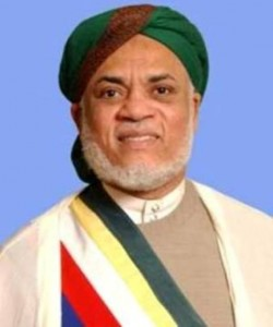 Photo officielle du Président Ahmed Abdallah Mohamed Sambi (2006-2011)