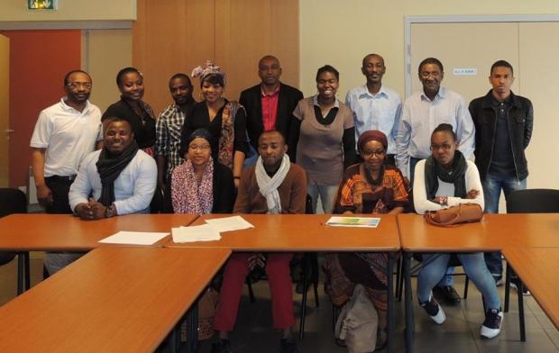 Les membres de la FCC avec Mchangama
