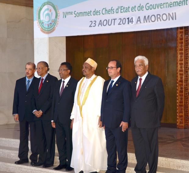 Les chefs d'État de la COI