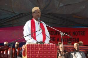 Houmed Msaidié lors du 1er anniversaire du Parti RADHI à Ivembeni